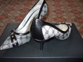 Graceland Pointed Toe Pumps black-silver-colored leather