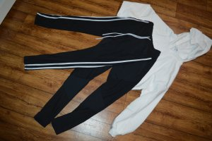 Pantalone da ginnastica nero-bianco