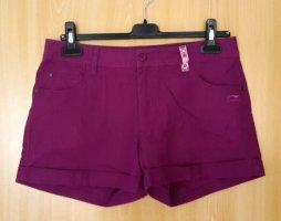 Pantaloncino di jeans blu-viola