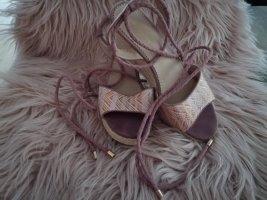 Graceland Escarpins à lacets blanc-rosé