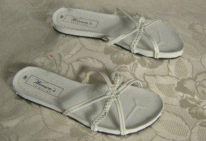 Süße Riemchen Pantolette Weiß Größe 40
