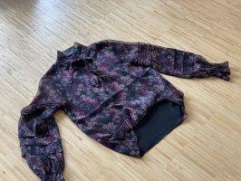 Lauren Jeans Co. Ralph Lauren Blouse avec noeuds noir