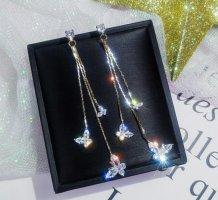 Süße Schmetterling Ohrringe Hängerchen Hängeohrringe  Modeschmuck  neu ovp  Gold Silber