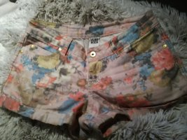 Süße Shorts Blumenprint Jeans