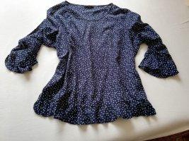 süße verspielte Bluse von OPUS blau mit weißen Punkten Gr. 38