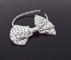 Hair Circlet white-black