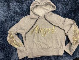 EDEL Hooded Sweatshirt light grey-gold-colored