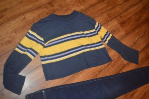 Urban Outfitters Crewneck Sweater yellow-dark blue