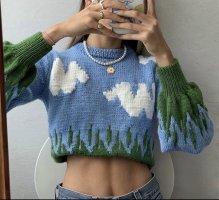 Boutique Pull oversize bleu azur-vert