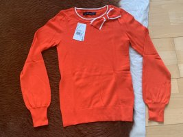 Süßer Pullover von Hallhuber mit Schleife, rot, Größe 34, NEU