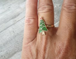 I am Gold Ring gold-colored-green
