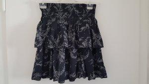 Broomstick Skirt white-black
