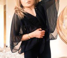 Süßer sexy Bolero Fledermausärmel schwarz transparent und Spitze