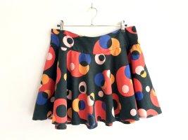 MinC Falda circular multicolor tejido mezclado