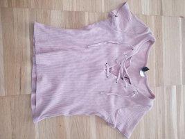 Süßes altrosa crop shirt lace up XS