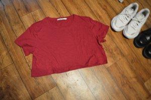 Nakd Cropped Shirt bordeaux
