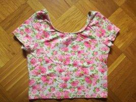 H&M Divided Camicia cropped multicolore Cotone