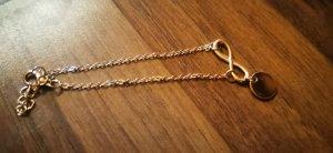 süßes Infinity Armband Fußkettchen Gold Modeschmuck neu ovp