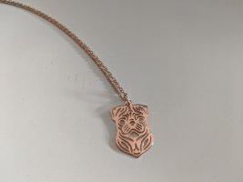 Süsses Kettchen 925 Silber/Rosevergoldung mit Anhänger Mops/auch in Gold und Silber!