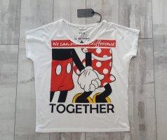 Süßes Micky Mouse T Shirt in weiß/schwarz/rot NEU