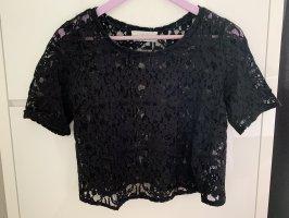 Abercrombie & Fitch Siateczkowa koszulka czarny