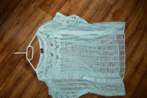 Pieces Gehaakt shirt lichtgroen