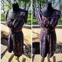 süßes Sommerkleid Kleid von Mango Mng  Gr S 36 38  neu  dunkelblau Vorne komplett mit Reißverschluss