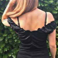 Süßes Sommerkleidchen schwarz neu Casual lässig Strand Cocktail Party Coachella schwarz 40 42 L XL Boho Hippie Style