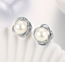 Pearl Earring white-silver-colored