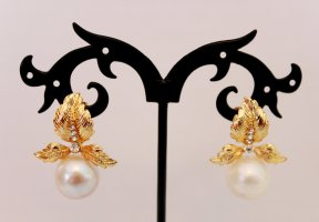 Pearl Earring white-silver-colored metal