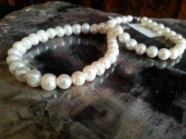 Collier Necklace white-dark grey metal
