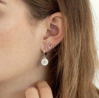 Sun Eye Coin Ohrringe Silber