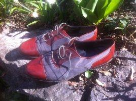 Wingtip Shoes grey-carmine leather