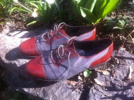 Wingtip Shoes grey-russet leather