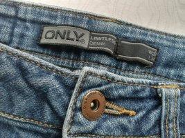 Be only Jeansy ze stretchu niebieski-ciemnoniebieski