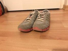 Adidas Sznurowane trampki jasnoszary-różowy