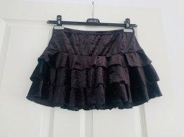 H&M Spódnica mini czarny Poliester