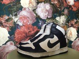 Nike Zapatillas altas blanco-azul oscuro