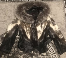 0039 Italy Giacca di pelliccia argento-nero