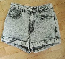 American Apparel Pantalón corto de talle alto multicolor Algodón