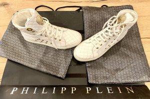Philipp Plein Basket montante blanc cuir
