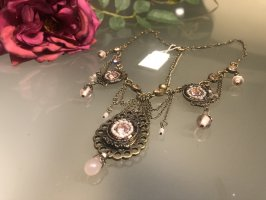 Collier brons-stoffig roze