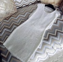 0039 Italy Robe en maille tricotées blanc