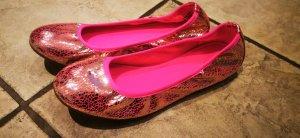 Bailarinas plegables rosa-rosa neón