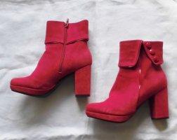 Alba Moda Botas con cremallera rojo Cuero