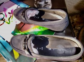 super Velourleder-loafer, Gr.4,5, topgepflegt