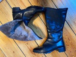 Super warme Leder Stiefel von Högl Gr.40 schwarz mit Absatz