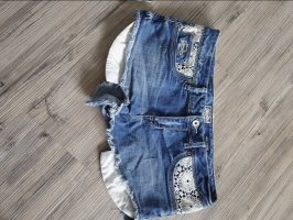 Superdry Pantalón corto de tela vaquera blanco-azul