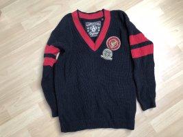 Superdry College  V Pullover blau rot Gr. 38
