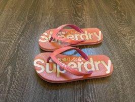Superdry flip Flops Schlappen badelatschen Glitzer pink rosa
